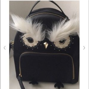 Kate Spade Owl Tomi Star Bright Nylon Backpack.